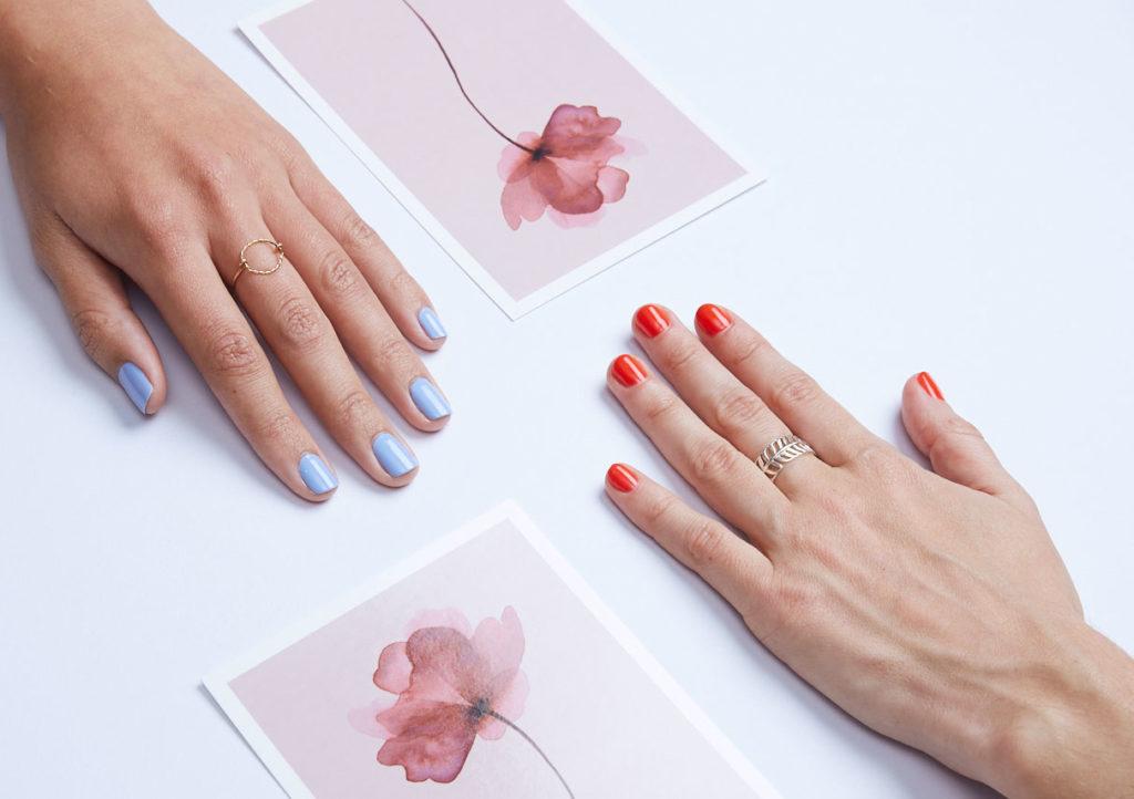 Ongle main manucure échange partage fleur desgin